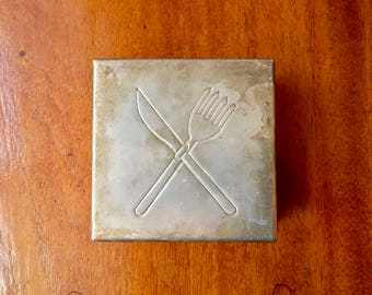 Swedish mid century sandwich box in Alpaca silver for your next lunch, yummy!