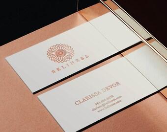 Luxurious logo, elegant business cards, Custom logo design, Elegant logo, Minimal Logo, Unique logo design, rose gold business card