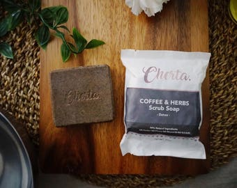 Coffee & Herbs Scrub Soap
