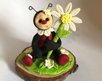 Polymer Clay spring ladybug