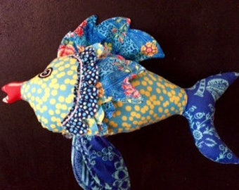 """Small 12""""  Long Fish Friend with floppy fins animal in U- pick colors"""
