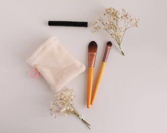 Gant réutilisables, éponge bio,lingettes lavables bio, gant coton démaquillant bio, carrés coton, zéro déchet, soin visage, nettoyant visage