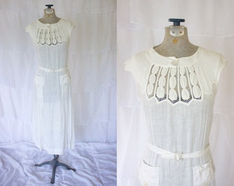 1920s Afternoon Dress // 20s Wedding Dress // Vintage Non-Traditional Wedding Dress // Gatsby Dress
