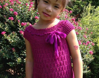 Sweet Paris - Girl Tunic Top Knitting Pattern