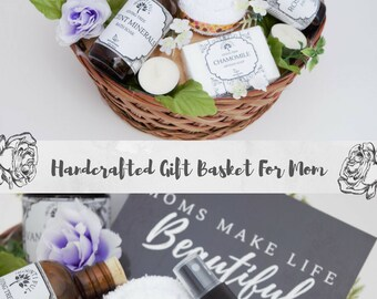 Gift Basket for Mom, Cheer Up Gift Basket, New Mom Gift Basket, Pregnancy Gift Basket, Gift for New Mom, Spa Gift Basket, Bestfriend Gift