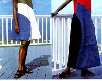 ISSEY MIYAKE Vogue 1563 OnePiece Dress Color Block Summer Maxi Dress Vogue Designer Original Womens Sewing Patterns Size 8 10 12 UNCuT