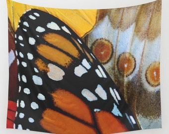 Tapestry - Butterfly Tapestry - Monarch Butterfly - Nature Tapestry - Butterfly Art - Butterfly Wall Decor - Wall Tapestry - Boho Decor