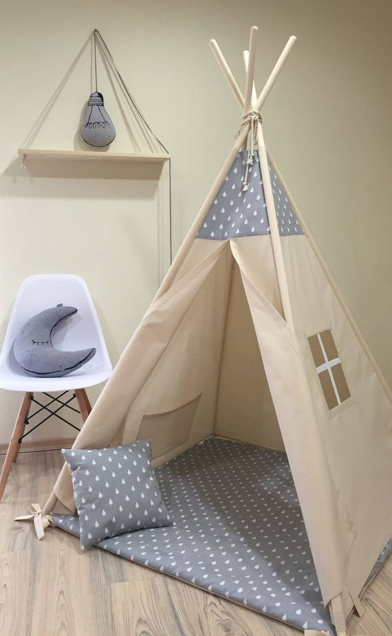 tipi enfants jouer wigwam tente tipi pour enfants tipi. Black Bedroom Furniture Sets. Home Design Ideas