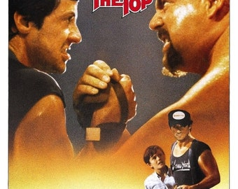 Spring Sales Event: OVER The TOP Movie Poster Sylvester Stallone 1987 Arm Wrestling