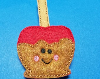 """Candy Apple Feltie Hair Clip Clippie  - """"Candy the Candy Apple"""" - For Infant Toddler Girl"""