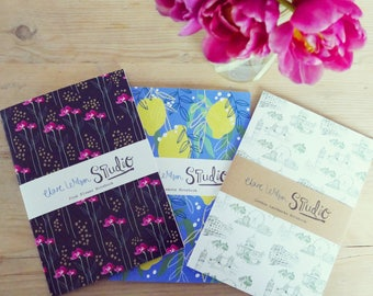 3 x A5 Notebooks, Jotters, Sketchbooks