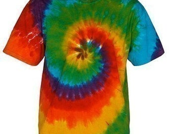 Tie Dye Rainbow Swirl Shirt in Plus Sizes