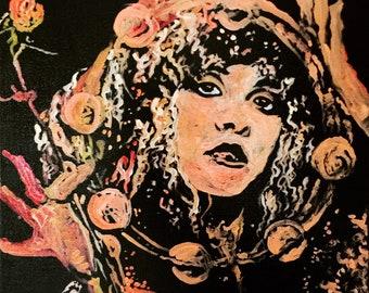 Stevie Nicks Fleetwood Mac by Matt Pecson Hippie Decor Boho Decor Original Painting Canvas Wall Art Girlfriend Gift for Her MADE TO ORDER