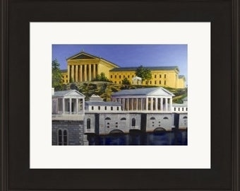Fairmount Water Works - Framed Limited Edition Print