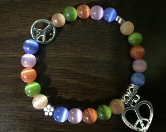 Peace n love bracelet