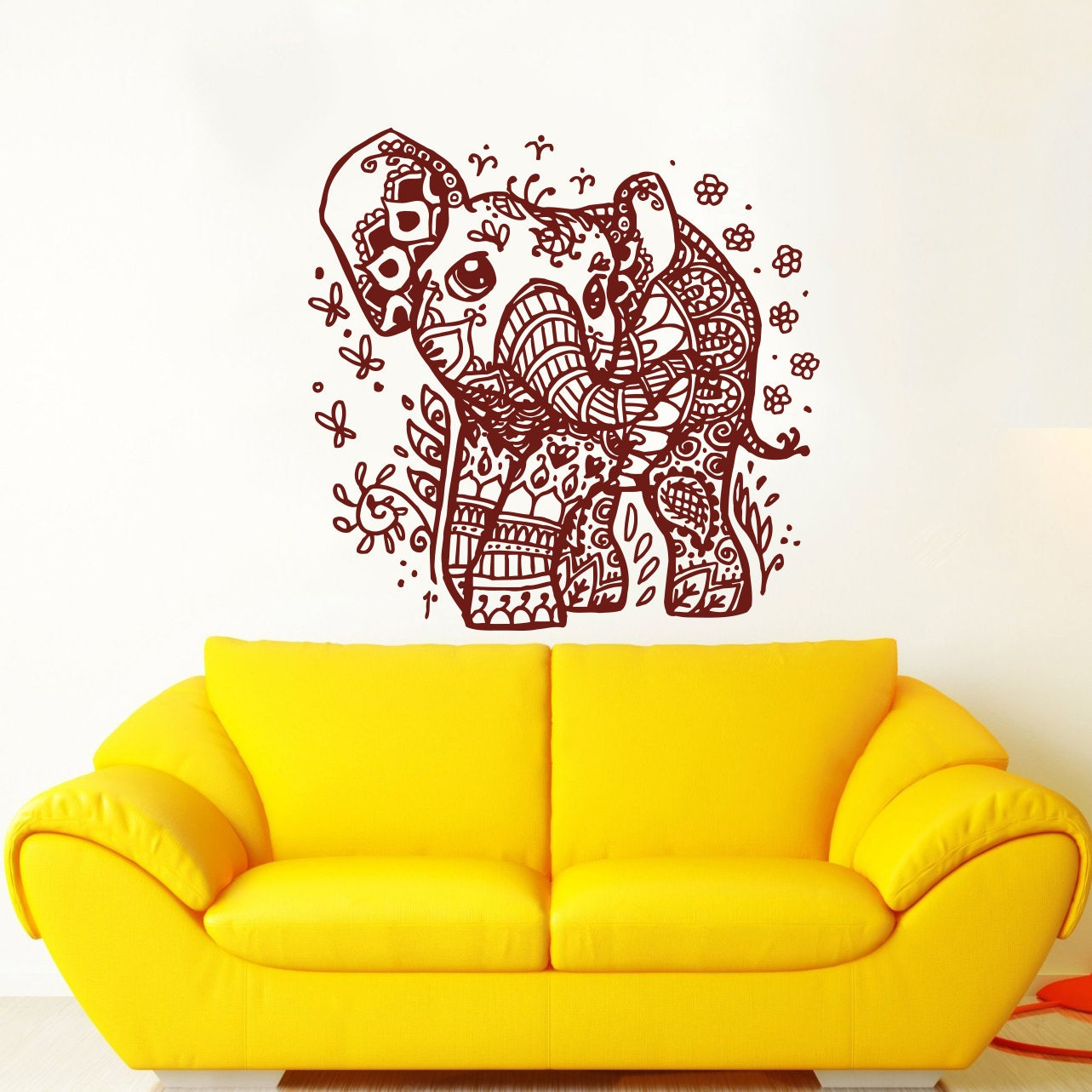 Indian Elephant Wall Decals Elephant Wall Decal Vinyl Sticker