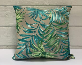 Tropical Palm Frond Outdoor Cushion Cover