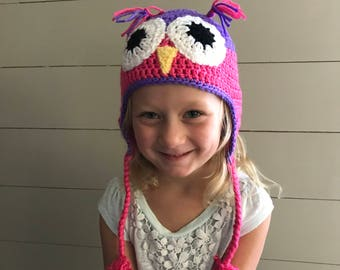 Crochet Child Owl Hat