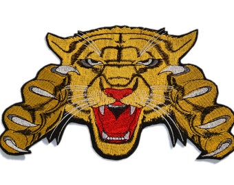 Big Tiger Embroidered patch, Iron on patch, Large patch, Head Tiger patch, Patches for jackets, Animal patch, Various sizes and colors