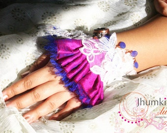 SALE Titiksha /// Mixed Media Cuff by Jhumki Couture - designs by raindrops
