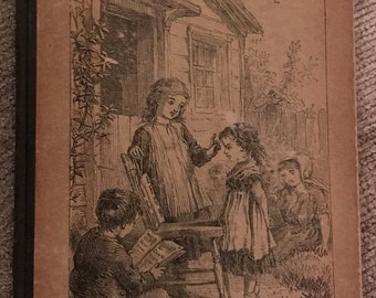 Vintage French Children's Book 'The First Steps' - 1879