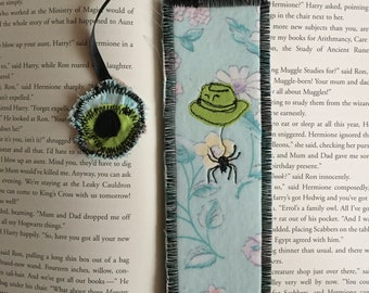 Anansi Boys. Neil Gaiman. Mr. Nancy. Unique Fabric Bookmark. Small Gift. Gift For Reader. Literary Gift. Handmade Bookmark