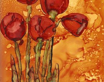 Cut Tulips 10 x 8 Print Portrait