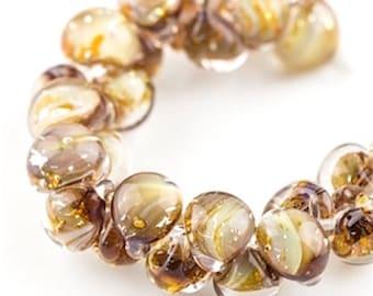 12 pieces 13mm Lampwork Glass Yellow Teardrop Beads