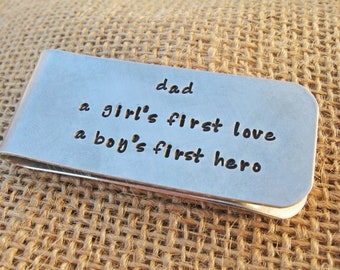 Dad money clip - Personalized money clip for Dad - Ready to ship money clip
