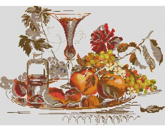 Cross Stitch Pattern Still life counted embroidery