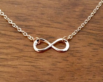 Rose gold infinity necklace, rose gold necklace, rose gold infinity charm necklace, rose gold jewellery, rose gold jewelry, valentines day