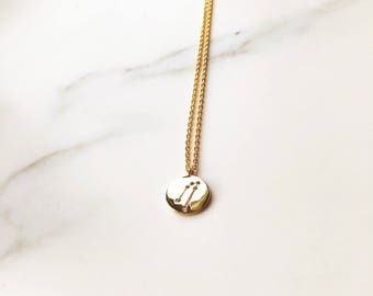 Small 'Taurus' Zodiac Charm Necklace