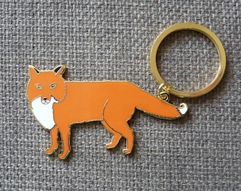 Enamel Fox Keyring