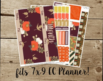 Choose Your Monthly Kit: Fall Floral (for use in Erin Condren Life Planner)