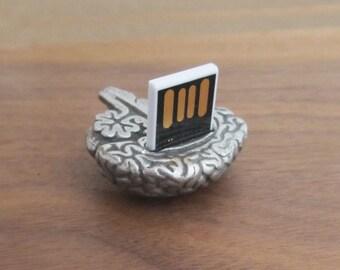Human Brain USB Thumb Drive - Brain Flash Drive, Human Anatomy Science Gift, Neurology, Psychology