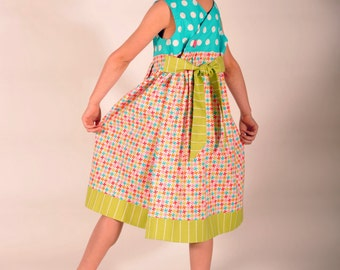 Girls Sundress, Girls Clothing, Childrens Clothing, Girls Dresses, Toddler Dress, Little Girl Dresses, Blue, Pink, Size 2T 3 4 5 6 7 8 10