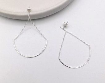925 Sterling Silver Swing Swing Earring(102-4540)