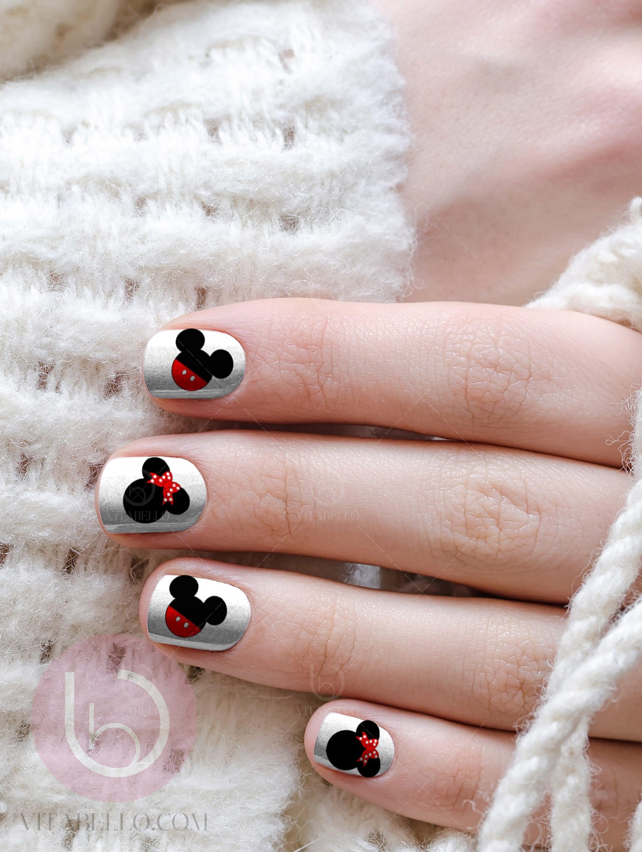 Mickey Ears Nail Decals, Nail Design, Nails, Press On Nail Decal ...