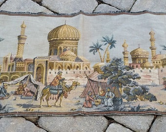 Vintage Exotic Woven Tapestry Wall Hanging