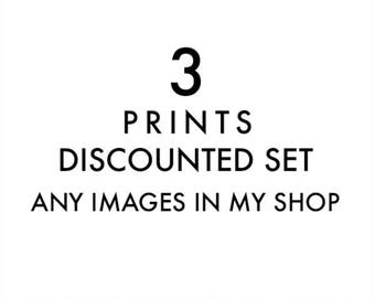 choose your prints, custom discounted set, set of 3 fine art prints, your choice, 5x7 8x10 11x14, California, beach, photography, wall art