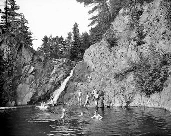 Old Swimming Hole Duluth Minnesota 1900's Photo