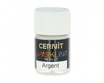 For polymer Cernit Sparkling Silver metallic mica powder