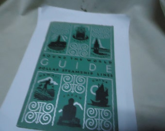 Vintage 1932 Dollar Steamship Lines Round The World Guide, San Francisco, collectable, softback, book