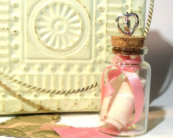 Valentine - Gift - Message in a bottle - Personalized
