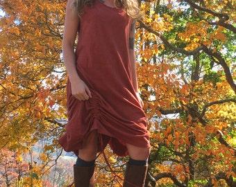 The Coreline Dress. Organic hemp jersey. Made to order.