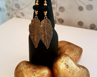 Arts of Leaves. Leaf Earrings. Boho Style. Fashion Earrings.