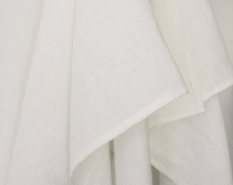 Two ecofriendly white 100% linen hand towels with loop, fitnes towel, bath towel, sauna towel