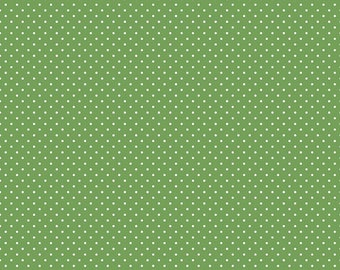 Swiss Dot Fabric - Dark Green Polka Dot Fabric - Riley Blake Designs - Polka Dot Fabric - Green Fabric - Quilt Fabric