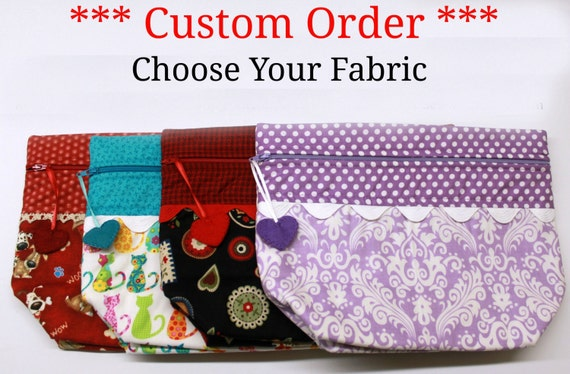 Choose Your Fabric Lil' Big Bottom Cross Stitch Embroidery Bag