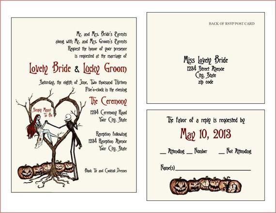 INVITES & RSVP CARDS Vintage Fall Autumn Halloween Spooky